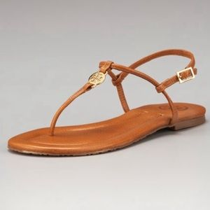 "Tory Burch ""Emmy"" Sandal chestnut brown"